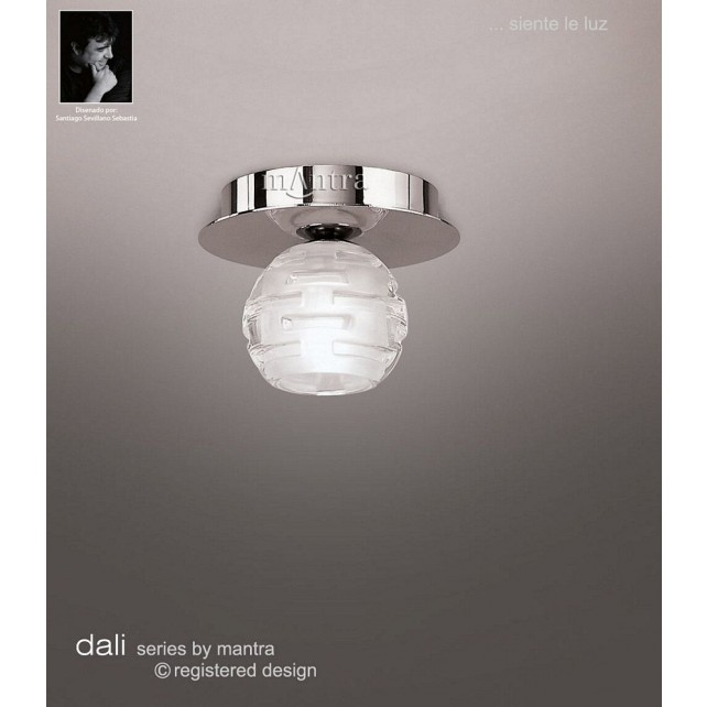 Dali Fixed Ceiling 1 Light Polished Chrome