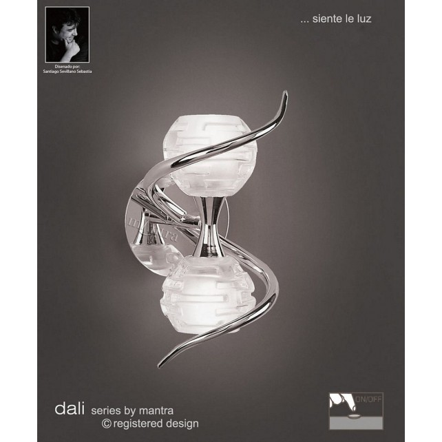 Dali Switched Wall Lamp 2 Lights Polished Chrome