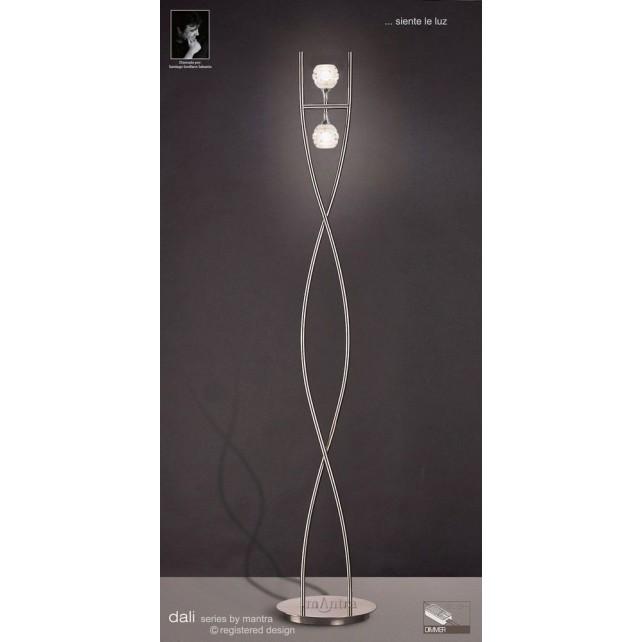 Dali Floor Lamp 2 Lights Polished Chrome
