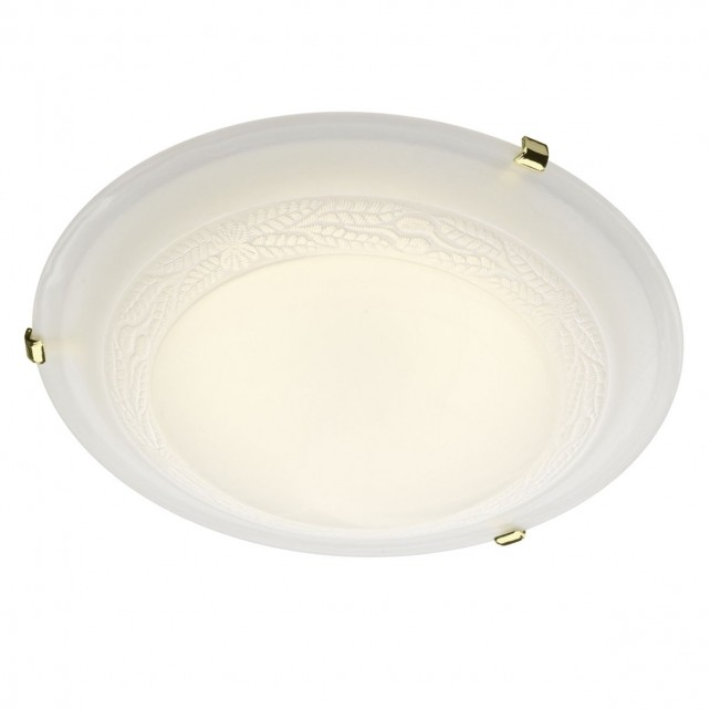 Damask Flush Ceiling Light - Medium