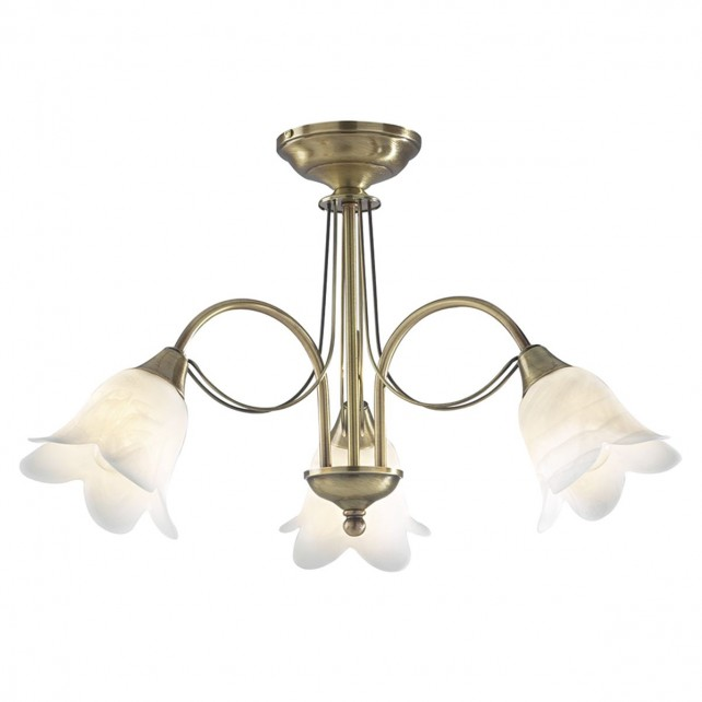 Doublet Ceiling Light - 3 Light Antique Brass