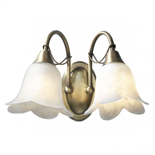 Doublet Wall Light (Switched) - 2 Light Antique Brass