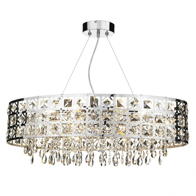 Duchess 6 Light Oval Pendant