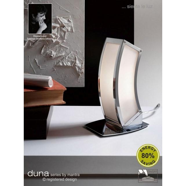 Duna Table Lamp 1 Light Polished Chrome. (E27 Lamp holder version).