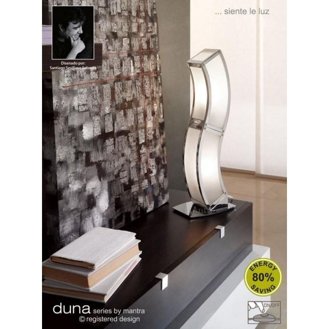 Duna Table Lamp 2 Light Polished Chrome. (E27 Lamp holder version).
