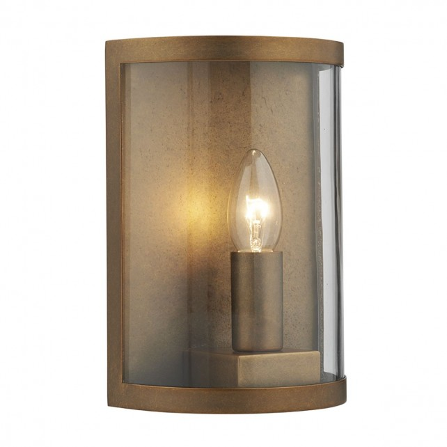 Dar Dusk 1-Light Wall Light Natural Brass
