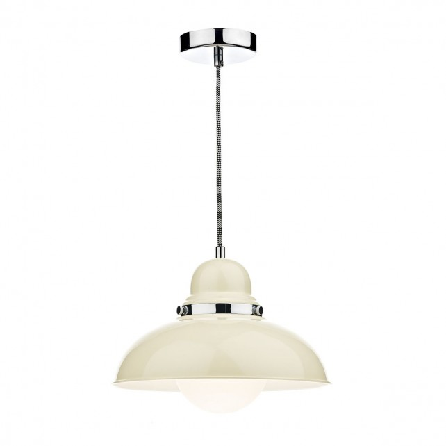 Dynamo 1 Light Pendant Cream