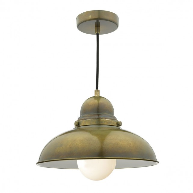 Dynamo 1 Light Pendant Weathered Brass