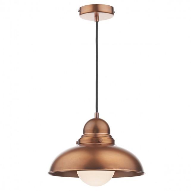 Dynamo 1 Light Pendant Antique Copper