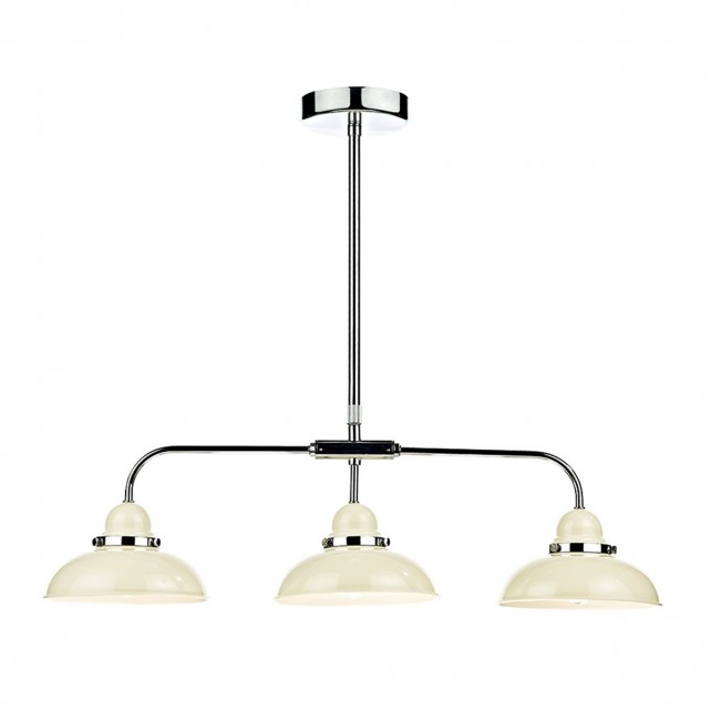 Dynamo 3 Light Bar Pendant Cream