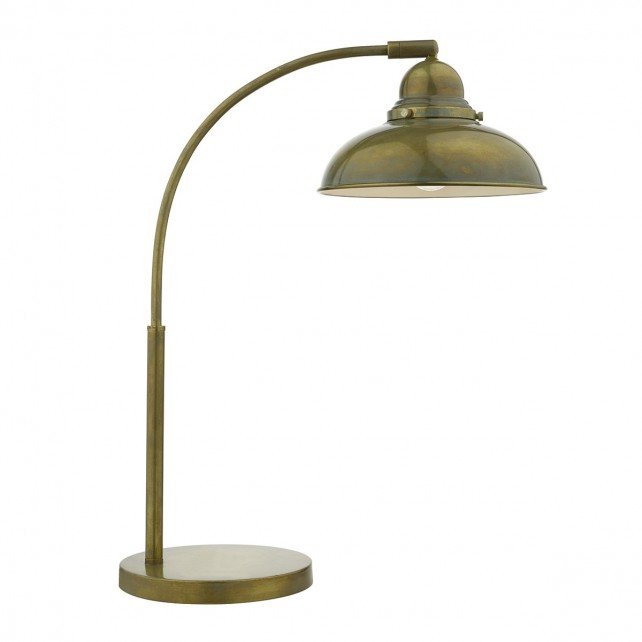Dynamo 1 Light Table Lamp Weathered Brass
