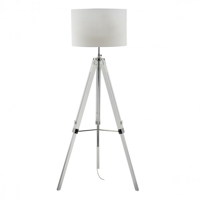 Easel Tripod Floor Lamp Base Only White Gloss
