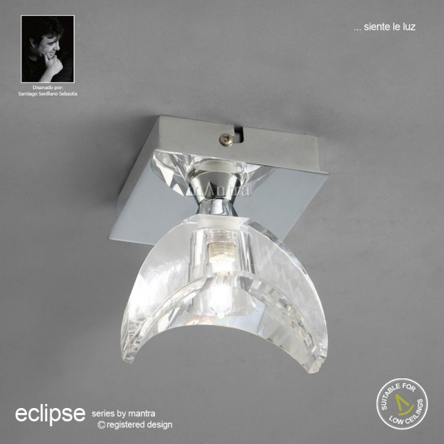 Eclipse Ceiling 1 Light Polished Chrome