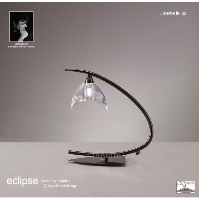 Eclipse Table Lamp 1 Light Black Chrome