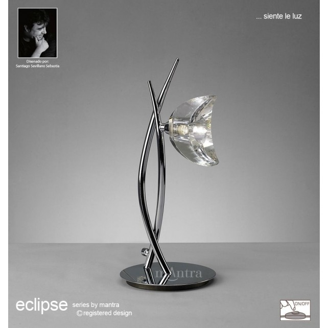 Eclipse Table Lamp 1 Light Polished Chrome