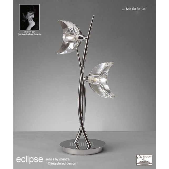 Eclipse Table Lamp 2 Light Polished Chrome