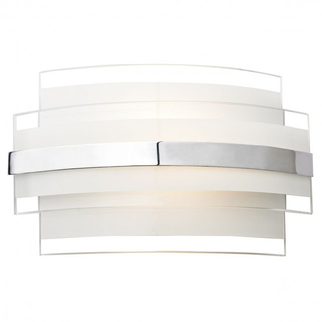 Edge Single LED Wall Light - White, Opal Glass