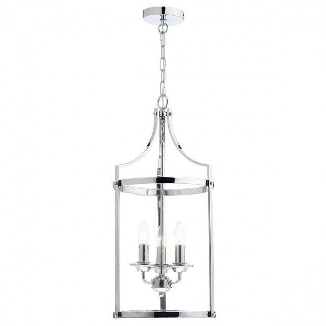 Dar Ely 3-Light Pendant Polished Chrome