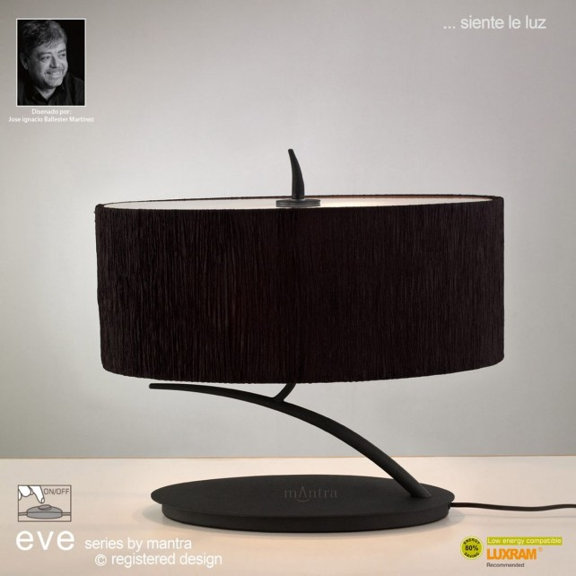 Eve Table 2 Light Antracite With Black Shade