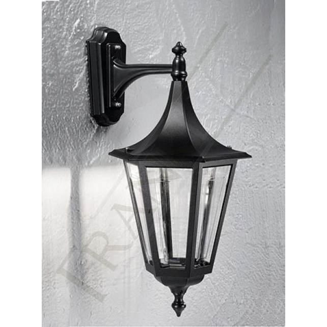 Franklite Exterior Boulevard (Down) Wall Lantern - Matt Black, IP43