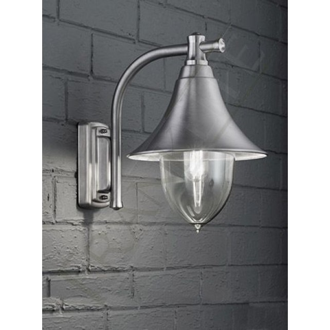 Franklite lorenz exterior wall light marine grade stainless steel ip44
