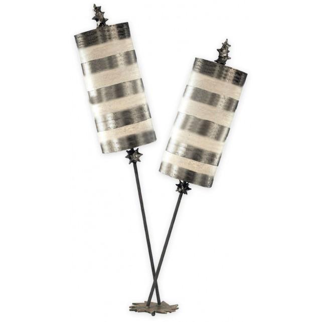 Flambeau FB/NETTLELUXS/TL Nettle Luxe Silver Table Lamp