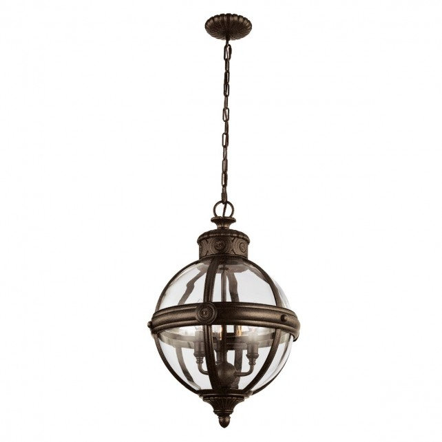 Feiss FE/ADAMS/3P BRZ Adams 3-Light Pendant Chandelier