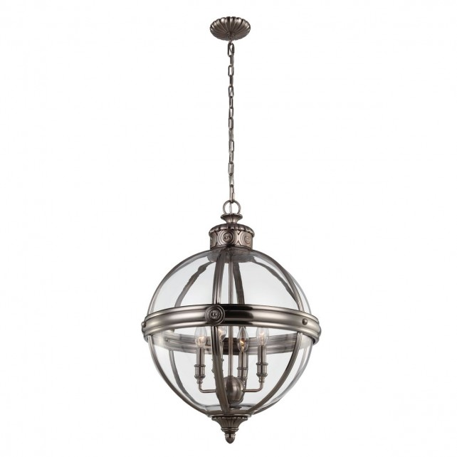 Feiss FE/ADAMS/4P ANL Adams 4-Light Pendant Chandelier
