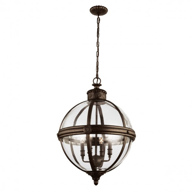 Feiss FE/ADAMS/4P BRZ Adams 4-Light Pendant Chandelier
