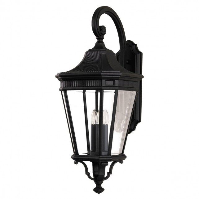 Feiss FE/COTSLN2/L BK Cotswold Lane Large Wall Lantern