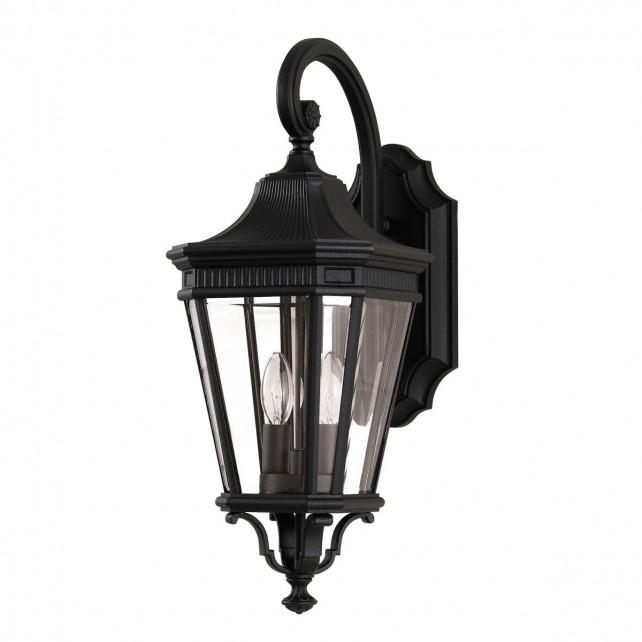 Feiss FE/COTSLN2/M BK Cotswold Lane Medium Wall Lantern