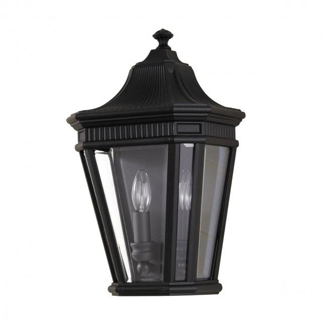 Feiss FE/COTSLN7 BK Cotswold Lane Half Wall Lantern