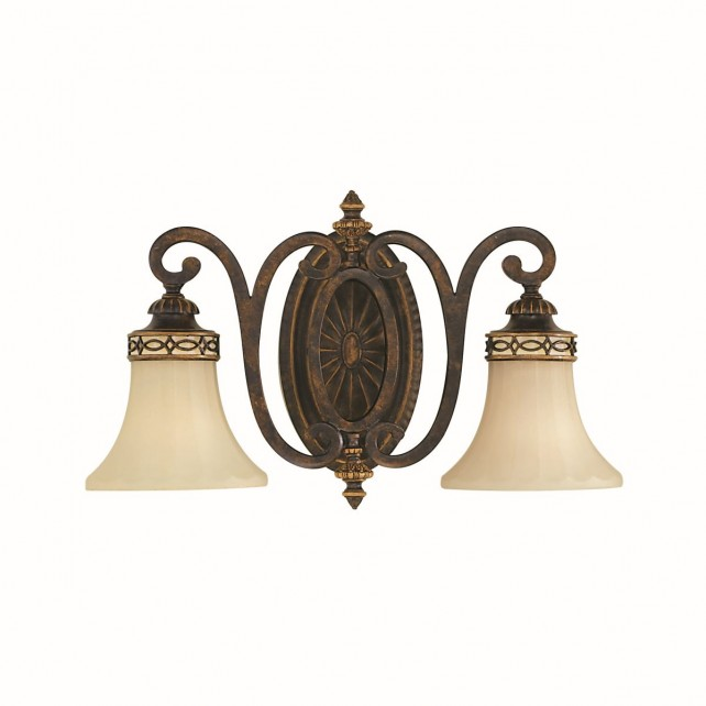 Feiss FE/DRAWINGRM2/B Drawing Room 2-Light Wall Light