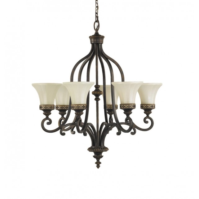 Feiss FE/DRAWING RM6 Drawing Room 6 - Light Chandelier