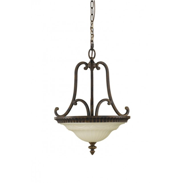 Feiss FE/DRAWINGRM/SFB Drawing Room Duo-Mount Semi-Flush Light