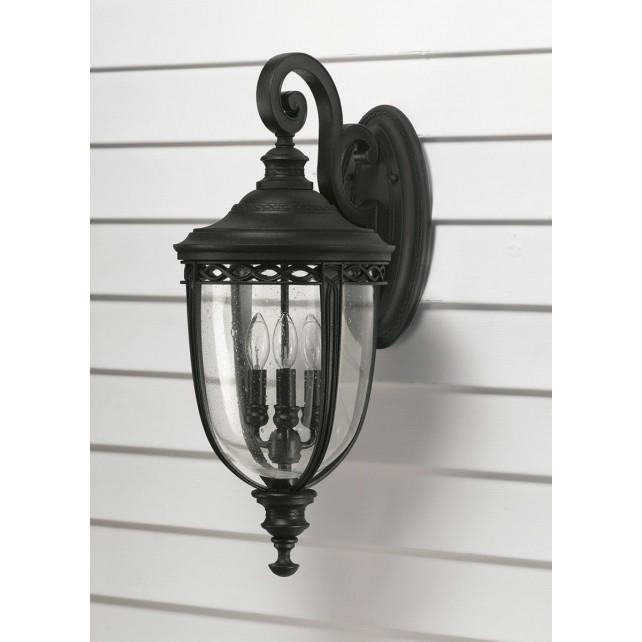 Feiss FE/EB2/L BLK English Bridle 3 - Light Large Wall Lantern Black