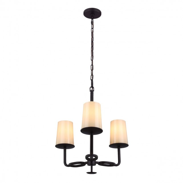 Feiss FE/HUNTLEY3 Huntley 3-Light Chandelier