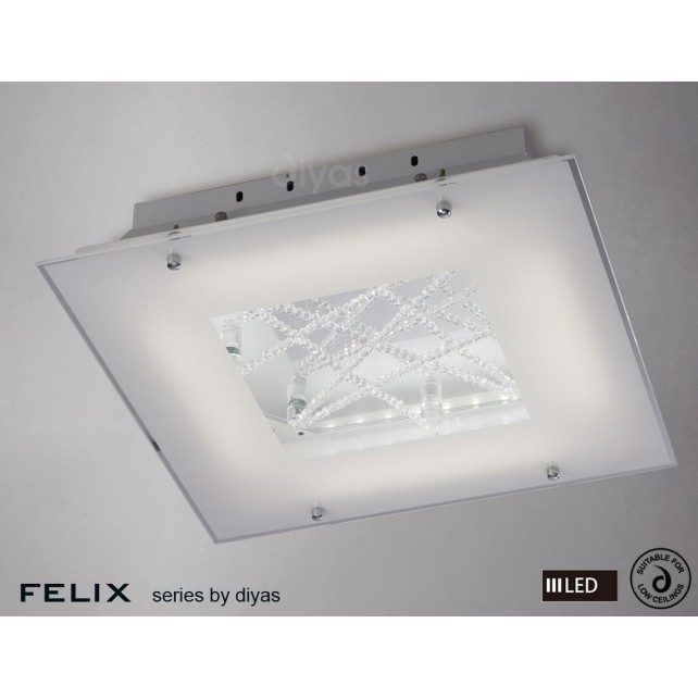 Diyas Felix Ceiling LED 3600K 32X0.5W Polished Chrome/Crystal