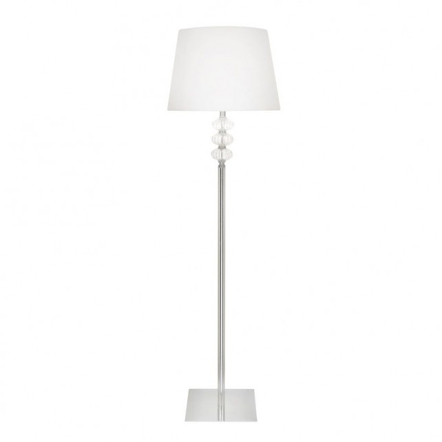 Somero Modern Floor Lamp - Chrome, Complete with Shade