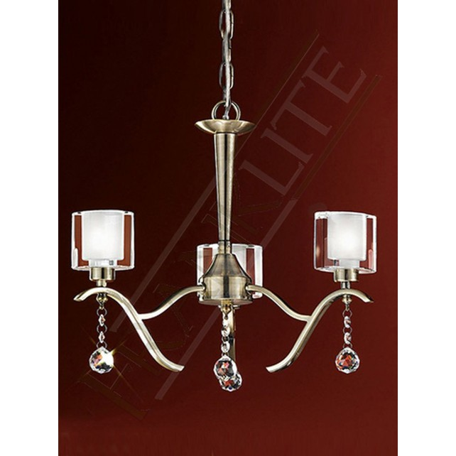 Franklite FL2165/3 Theory 3 Light Fitting