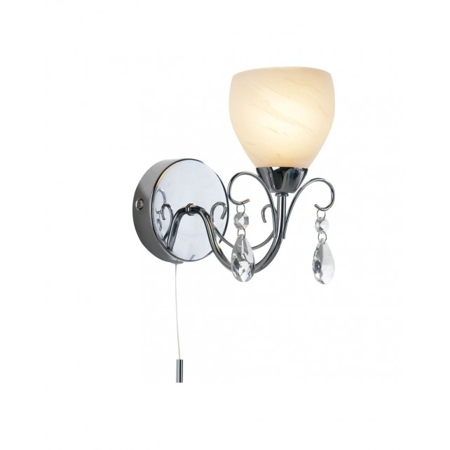 Folden Wall Light - 1 Light Polished Chrome