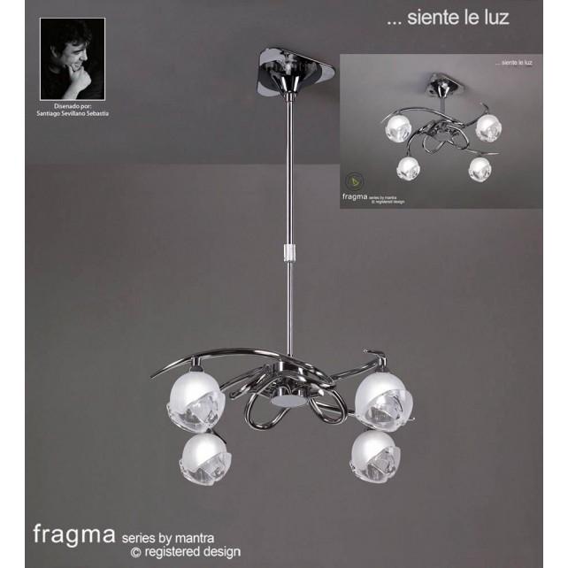 Fragma Pendant 4 Light Polished Chrome