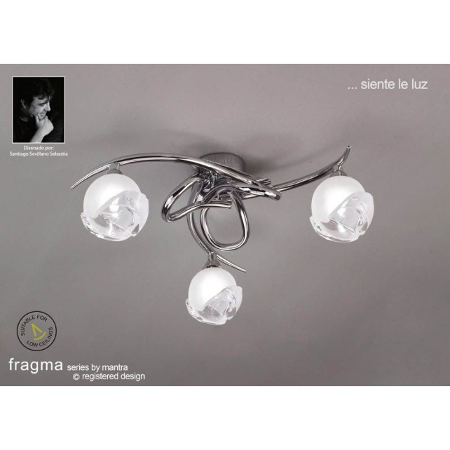 Fragma Ceiling 3 Light Polished Chrome