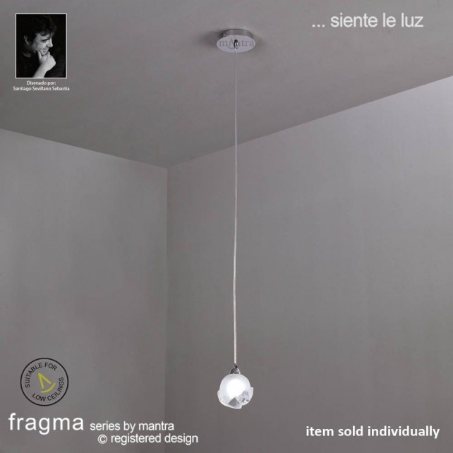 Fragma Pendant 1 Light Polished Chrome