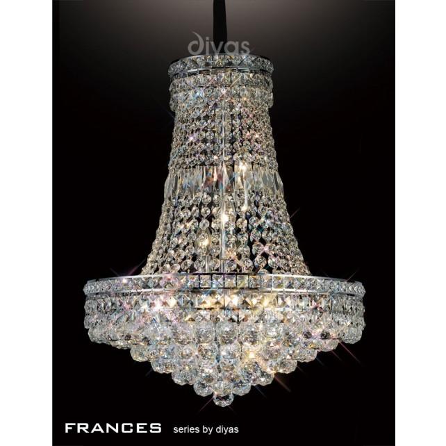 Diyas Frances Pendant 14 Light Chrome/Crystal
