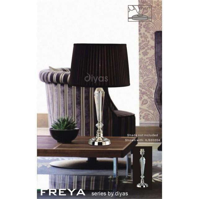 Diyas Freya Table Lamp 1 Light Polished Chrome/Crystal