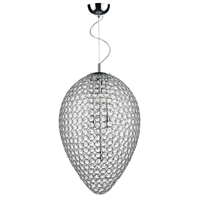 Frost 5 Light Pendant Light - Polished Chrome