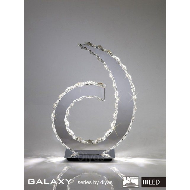 Diyas Galaxy D Shape Table Lamp Light 3600K 36X0.5W LED Chrome/Crystal