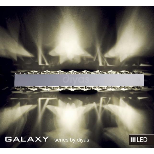 Diyas Galaxy Wall Lamp 3600K 6X0.5W LED Light Chrome/Crystal Horizontal