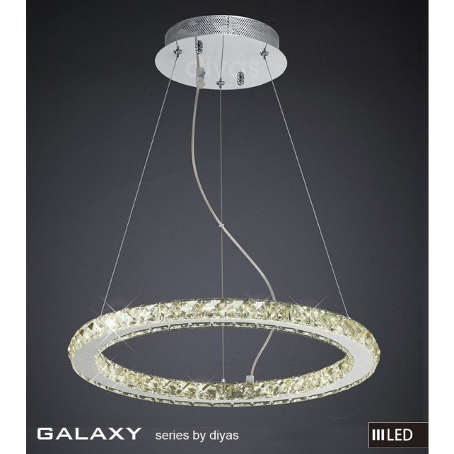 Diyas Galaxy Small Round Pendant 3600K 52X0.5W LED Light Chrome/Crystal